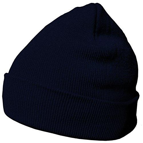 DonDon Berretto invernale morbido e caldo dal design moderno blu scuro