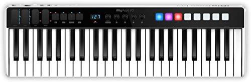 IK Multimedia iRig Keys I/O MIDI 49 - MIDI-Tastatur, tragbare Klaviertastatur, für Mac, iPhone und iPad, 49 Tasten, 8 Pads, Musikproduktionsstation, Software und Anwendungen