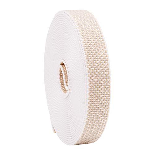 Rollladengurt 22/23 mm in Beige, 6m, Verstärkte-Ausführung MADE IN GERMANY, Gurtband für Rolladen und Jalousie, Maxi Rolladengurt strapazier- und reißfest, stabiles Rolladenband