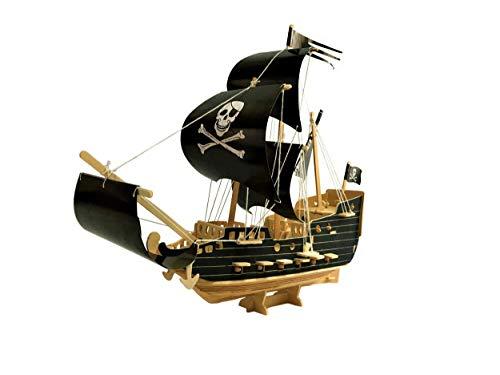 ほうねん堂 立体パズル 海賊船 木製 diy おもちゃ 帆船 クラフト 立体模型 工作 組み立てキット