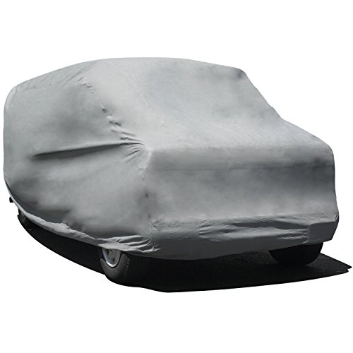 Budge Duro 3 Layer Mini Van Cover, Water Resistant, Scratchproof, Dustproof Cover, Fits Vans up to 18', Gray