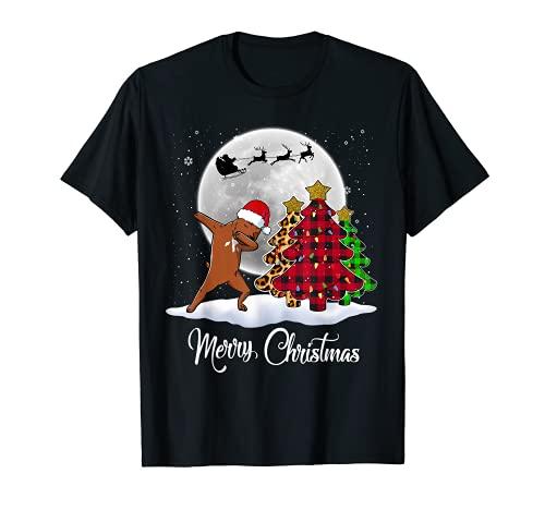 Dabbing Staffordshire Bull Terrier Dab - Árbol de Navidad Camiseta