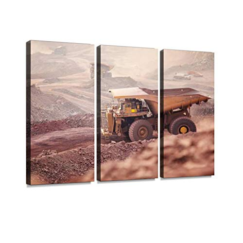 Tunnel Mining Print On Canvas Wall Artwork Modern Photography Home Decor Unique Pattern Stretched and Framed 3 piece