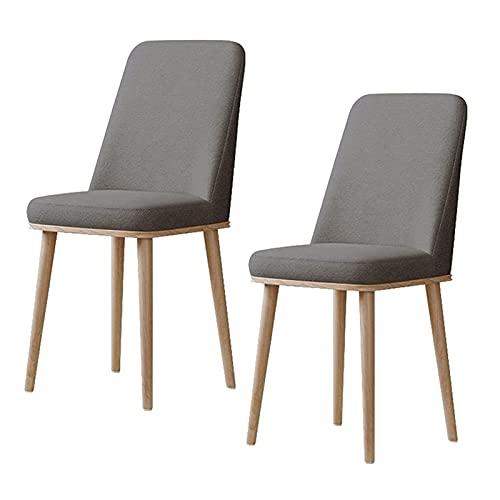 WYGK Conjunto de Silla de Comedor de 2, sillas de Cocina con Tela Impermeable Grano de Cuero metálico para el salón de Oficina sillas de Dormitorio Cocina (Color : Grey, Size : Light Frame)