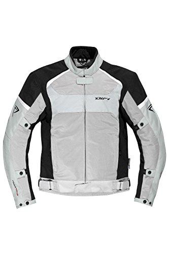 DIFI SAN DIEGO Motorradjacke Sommer Color silbergrau/schwarz/weiß, Size XXL