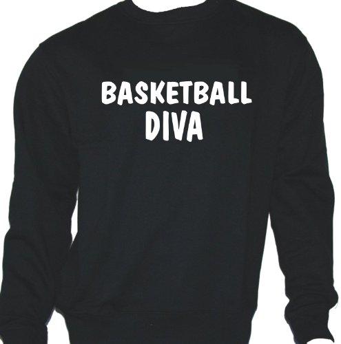 Basketball Diva; Sweatshirt schwarz, Gr. L