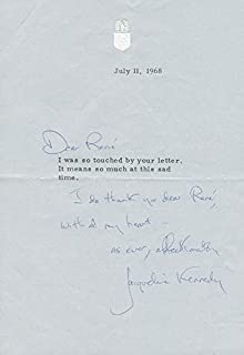 First Lady Jacqueline B. Kennedy - Autograph Letter Signed 07/11/1968