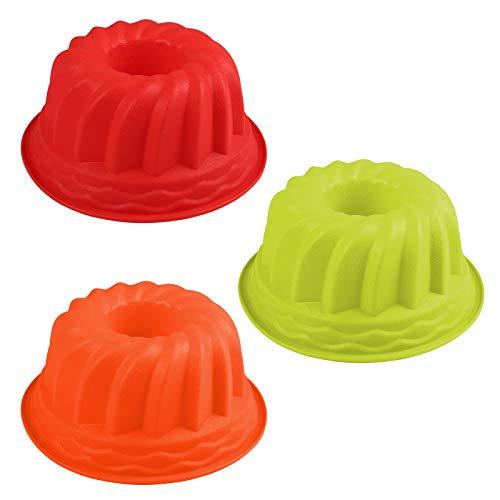 LIHAO Gugelhupfform Silikon Backform Gugelhupf Kuchenform Wiederverwendbare für DIY Backen, 1 Stück (zufällige Farbe)