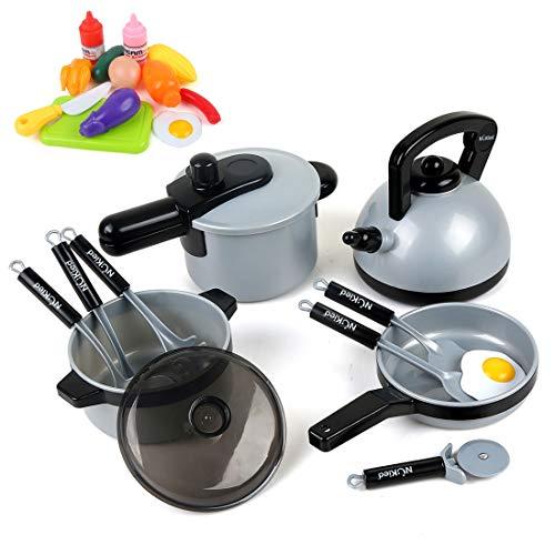 BeebeeRun Juguete de Cocina Set,Cocina de Juguete,Niños de 3 Años de Edad,22 Piezas