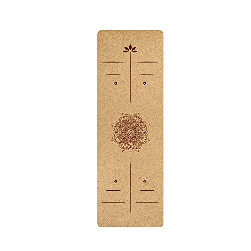 Eachbid Esterilla Yoga Antideslizante, Esterilla Yoga Corcho, Esterilla Deporte Hecha de Material Natural, Colchoneta Yoga de Corcho, Yoga Mat, Esterilla de Yoga TPE Ideal para Hot Yoga