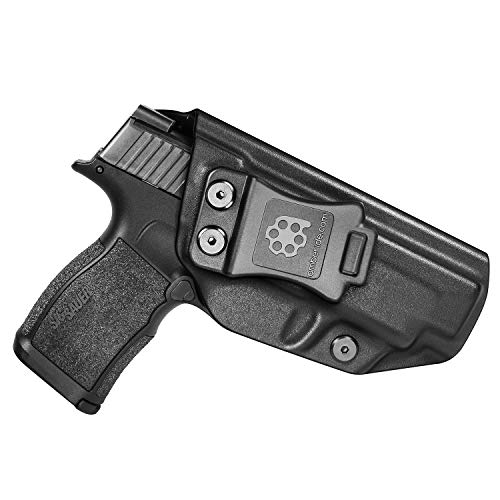 Amberide IWB KYDEX Holster Fit: Sig Sauer P365XL | Inside Waistband | Adjustable Cant | US KYDEX Made (Black, Right Hand Draw (IWB))