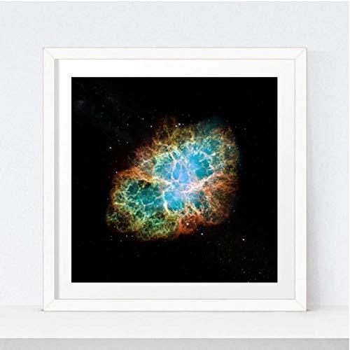 RN beeld universum Art Poster Krab Nebula Prints Hubble Telescoop Ruimte Canvas Schilderen Wetenschap Muurkunst Foto Home Decor(60x60 cm geen frame)