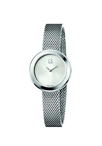 Calvin Klein Damen Analog Quarz Smart Watch Armbanduhr mit Edelstahl Armband K3N23126