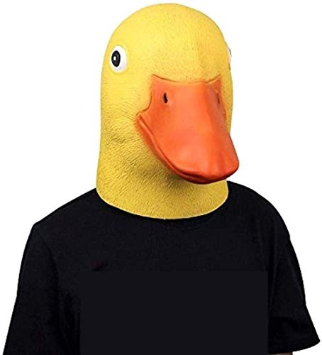 SLM-max Halloween-Maske Süße Maske Neuheit Latex Gummi Gruselig Lustige Gelbe Entenkopf Maske Halloween Party Cosplay Kostüm