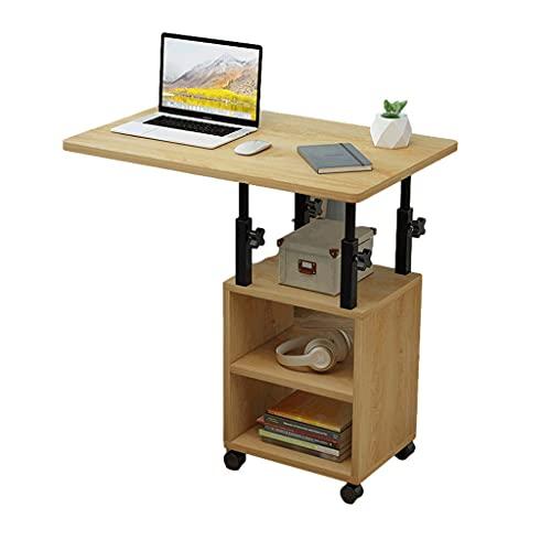 Mordern - Mesita de noche ajustable para ordenador portátil, mesa giratoria para portátil, mesa de cama, se puede levantar de pie, escritorio de estudio de 60 x 40 cm, bandeja de comida