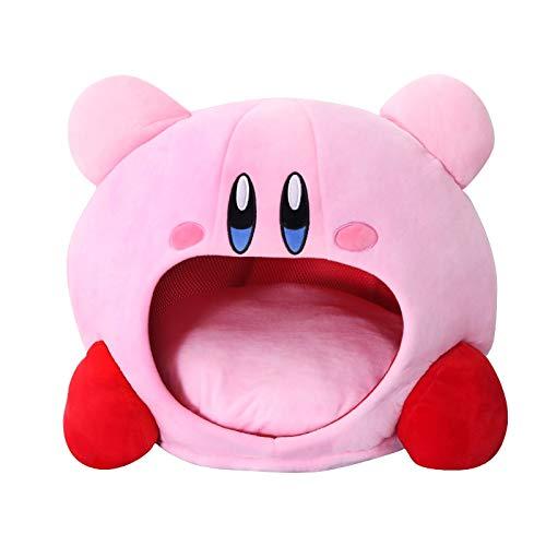 yitao Peluches 50cm Kirby Felpa Suave Almohada para Dormir Gorra Kawaii Anime Juego Kirby Almohada para Dormir Cojín Suave Mascota Casa Muñeca Juguetes