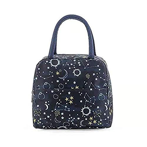 Bolsa de almuerzo portátil con aislamiento de gran capacidad, bolsa de almuerzo para mujer, bolsa de almuerzo térmica de pinic para el trabajo, escuela, picnic