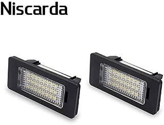 2Pcs White 6000K LED Number License Plate Lights Lamp Error Free Canbus for Audi A4 A5 S4 S5 Q5 TT