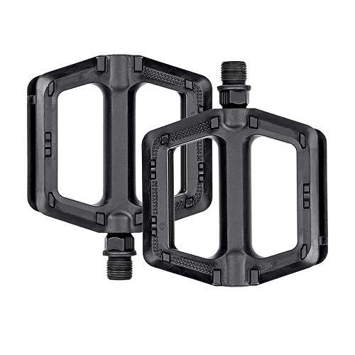 Sharplace Pedales de Bicicleta Negros Pedal de Bicicleta Reflectante de Plástico Fuerte Estándar de 9/16'