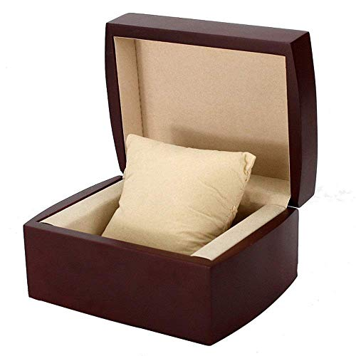 YLLAND Caja de reloj Storange Box de reloj de una sola ranura para reloj de pulsera, organizador de almacenamiento de joyas con cojín para hombres (color: negro, tamaño: S) LNNDE