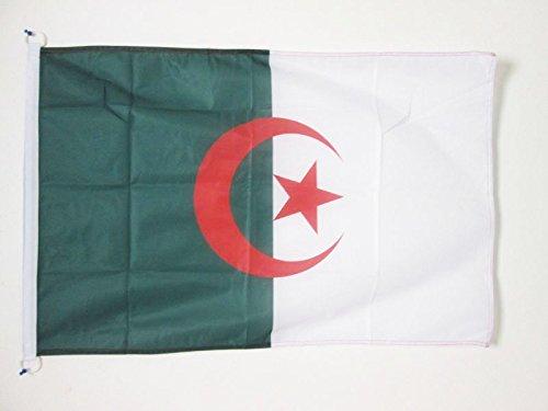 AZ FLAG Flagge ALGERIEN 90x60cm - ALGERISCHE Fahne 60 x 90 cm Aussenverwendung - flaggen Top Qualität
