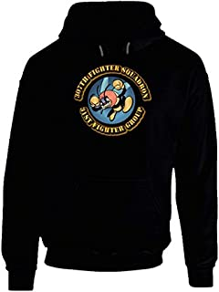 LARGE -Aac - 307th Fighter Squadron -31st Fighter Group Hoodie - Black