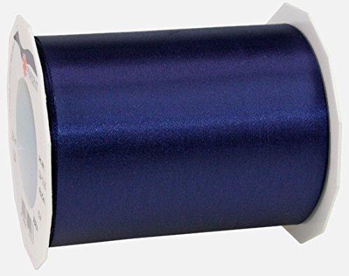 ADRIA Satin Tischband - Tischläufer, Farbe: dunkelblau. Rolle 25m x 112mm Breite. Lieferung Frei Haus.