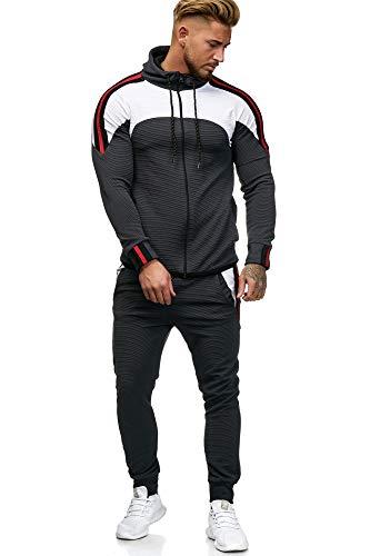 OneRedox Herren Jogginganzug Sportanzug Modell 1148 (XXL (Fällt eine Nummer Kleiner aus), Antra)
