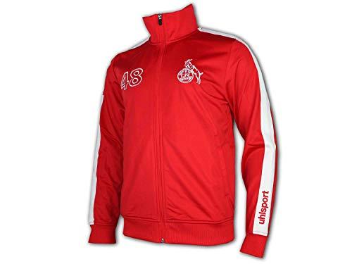 uhlsport Veste rétro 1.FC KÖLN 1948 - pour Homme - Rouge/Blanc - Taille 4XL