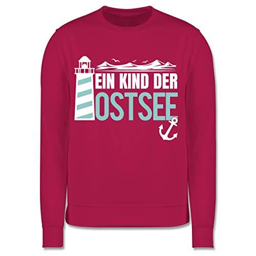 Shirtracer Sprüche Kind - EIN Kind der Ostsee blau/weiß - 152 (12/13 Jahre) - Fuchsia - Ostsee - JH030K - Kinder Pullover