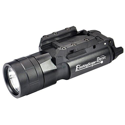 Linterna táctica de pistola de 420 lm, resistente al agua, con soporte de liberación rápida para senderismo, camping, caza y otros interiores