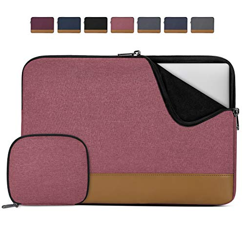 Lubardy Custodia PC 14 Pollici Impermeabile Custodia per Macbook Air Pro 13-14 Pollici Antiurto Borsa Porta PC con Borsa per Accessori Rosa