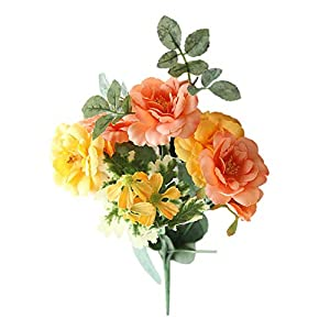 Silk Flower Arrangements Artificial and Dried Flower 1Pc Simulation Bouquet Home Room Simulation Bedding Bunch Pansy Flower Party/Wedding Decor - ( Color: D )