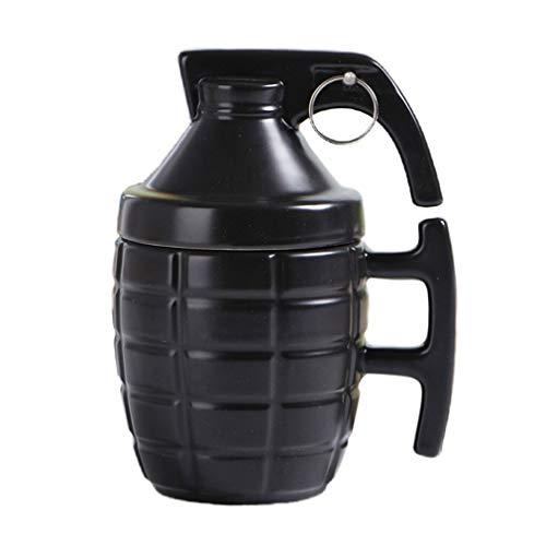 MIZUAN Klassische Granate Kaffeetassen Praktische Wasserschale Mit Deckel Lustiges Geschenk Kreatives Design Langlebig Black