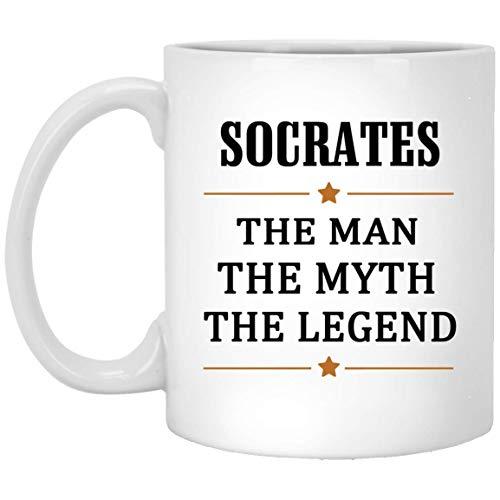 Not Applicable Sokrates Tee Tasse groß Der Mann Der Mythos Die Legende Kaffeetasse - Personalisierte Geburtstagsknebel Geschenke Tasse für Sokrates Kaffeetassen Weiße Keramik 11 Unzen