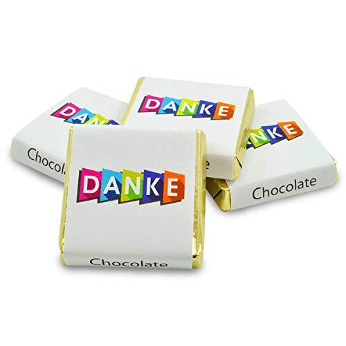 270 Stück Schokoladen-Nougat-Tafeln DANKE, kleine personalisierte Geschenke für Dankeschön Süßigkeiten Box, Gastgeschenke, zum Kaffee, als Tischdeko, Mini Geschenke in Confiserie Qualität