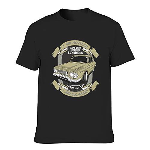Camiseta de algodón para hombre, diseño con texto 'I Am Not Old I Am Classic Cool, duradera, estilo camisa negro M