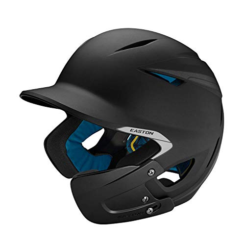 EASTON PRO X Baseball Batting Helmet with JAW GUARD | Right Handed Batter | Senior | Matte Black | 2020 | Multi-Density Impact Absorption Foam | High Impact Resistant ABS Shell | BioDRI Liner