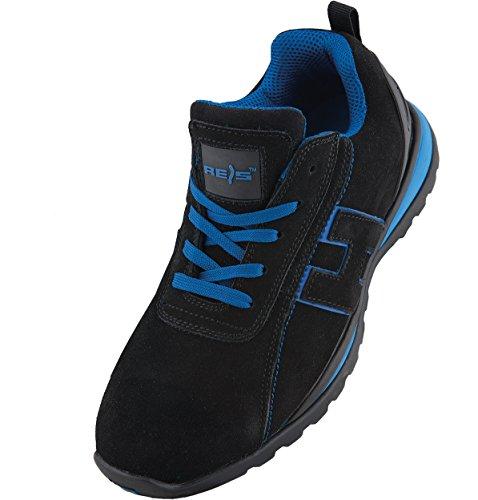 Arbeitsschuhe Sicherheitsschuhe CHILE Schuhe Gr.36-48 Schutzschuhe Stahlkappe (47), Schwarz Blau