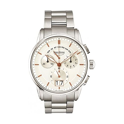 Bruno Söhnle Herren Chronograph Quarz Uhr mit Edelstahl Armband 17-13117-246