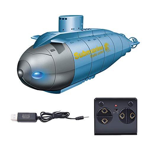 Mini submarino teledirigido con radiocontrol, 2,4 G RC Glowing Smart Electric submarino teledirigido barco con luz, juguete de buceo altamente simulado, para niños, fácil de controlar.