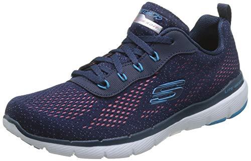 Skechers Damen Flex Appeal 3.0 Sneaker, Blau (Navy Mesh/Blue & Pink Trim Nvpk), 38 EU