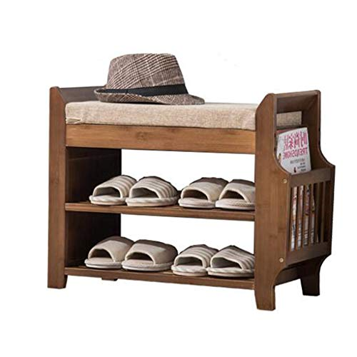 LHY- Change schoen bank Massief houten schoenenkast Multifunctionele lockers aan de deur van de gang Winkel (Size : 62.5cm)