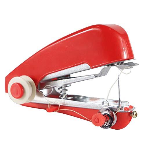 Xincsiwang Draagbare Handleiding Mini Naaimachine Rood