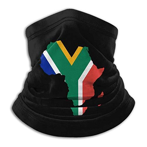 NA Zuid-Afrikaanse Vlag Afrika Kaart Mannen Vrouwen Gezicht Masker Winddichte Nek Gaiter Winter Hoofd Wrap Voor Sneeuwscooter Fietsen