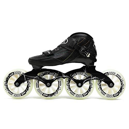 LBX Erwachsene Professionelle Inlineskates, 4 * 90-110MM Derby-Räder Profi-Rollerblade Aus Kohlefaser Für Kinder Schwarze Inline-Speedskates Rot Blau