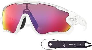 Oakley Jawbreaker OO9290 929055 31M Polished White/Prizm Road Sunglasses For Men+BUNDLE with Oakley Accessory Leash Kit