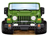 Beistle Jungle Safari Jeep Photo Prop Backdrop for Birthday Party Supplies, Multicolored