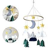 Campana di vento stile nordico,baby campanelli eolici,carillon del vento del bambino per decorazione giostrina e Cameretta Weihnachten (B)