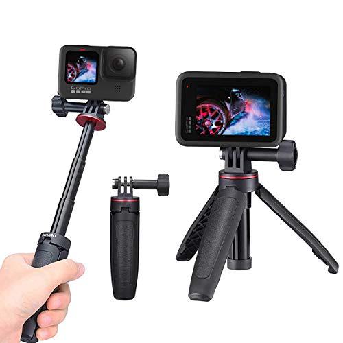 Mini Treppiede Universale per GoPro, Selfie Stick per Action Camera, Vlog Tripod per GoPro Hero 9,GoPro Max 8,7 Black,DJI Osmo Action e Insta360 ONE R,Insta360 ONE X e Crosstour,GOOKAM 4K Action Cam